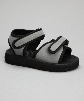 Gray & Black Nubuck Sandal