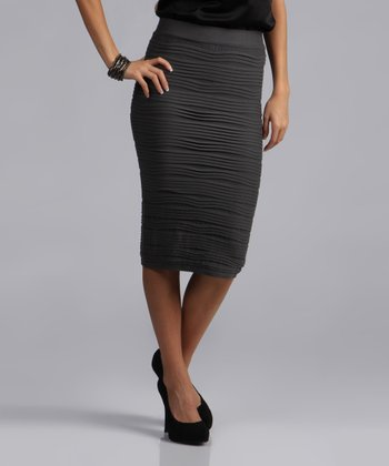 Gray Pencil Skirt - Women