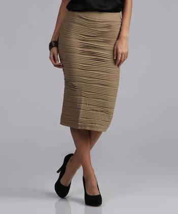 Mocha Pencil Skirt - Women