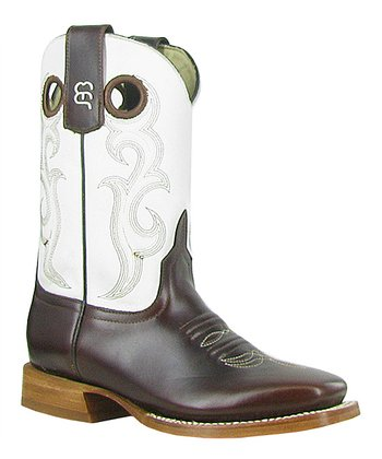 White & Brown Cowboy Boot