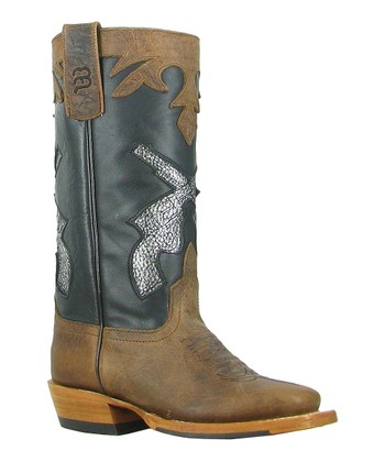 Black & Brown Showdown Cowboy Boot