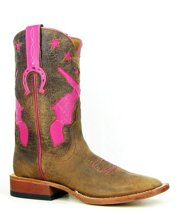 Pink & Brown Showdown Cowboy Boot - Women