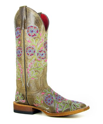 Light Brown Jolene Cowboy Boot - Women