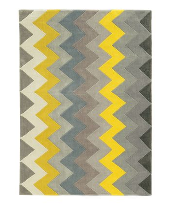 Gray & Yellow Ziggy Rug