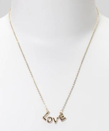 Gold 'Love' Necklace