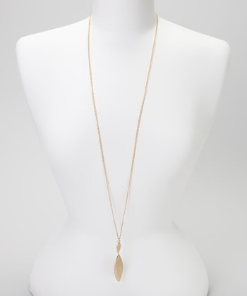 Gold Propeller Pendant Necklace