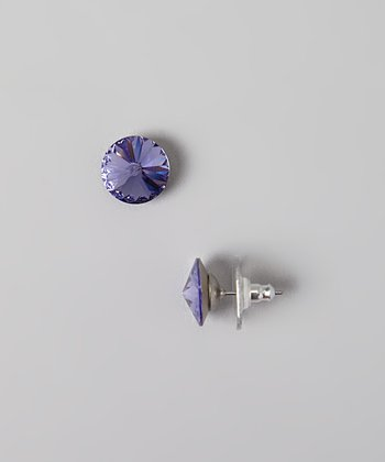 Purple SWAROVSKI ELEMENTS Stud Earrings