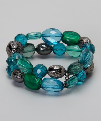 Blue & Green Stretch Bracelet