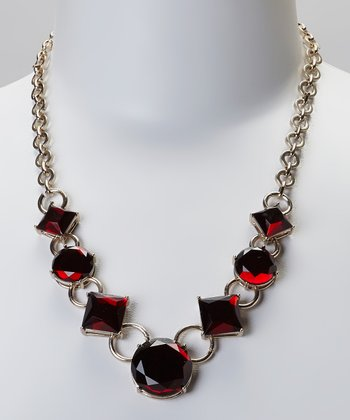 Ruby Stone Statement Necklace