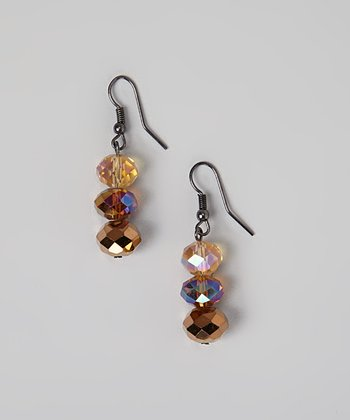 Topaz Triple Drop Earrings