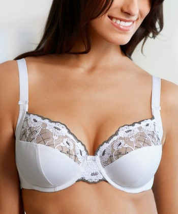 White Amelia Underwire Bra - Women & Plus