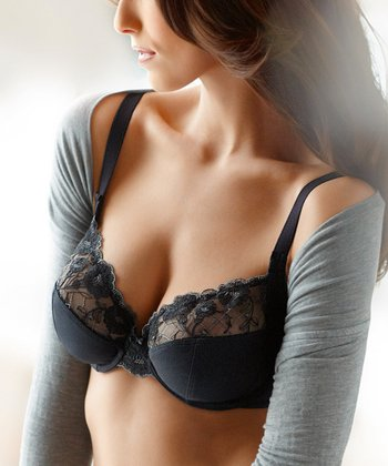 Black Amelia Underwire Bra - Women & Plus