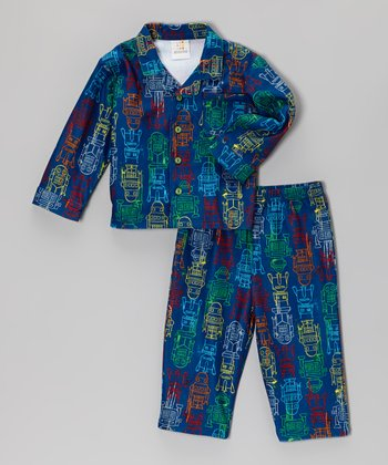Blue Robot Top & Pants - Infant