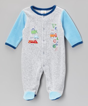 Gray 'Vehicles' Footie - Infant