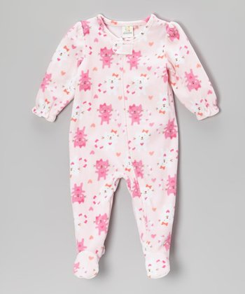 Pink Cats Footie - Infant