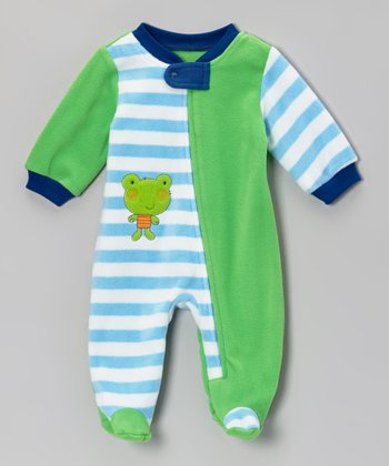 Green Frog Footie - Infant