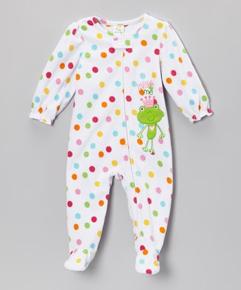 White 'Kiss Me' Footie - Infant