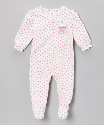 Pink 'Sweets' Footie - Infant