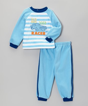 Absorba Blue 'Racer' Pajama Set - Boys