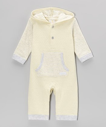 Neutral Yellow Hooded Playsuit - Infant