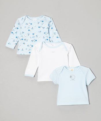 Absorba Blue & White Tee Set