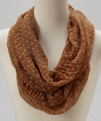 Coffee Polka Dot Infinity Scarf