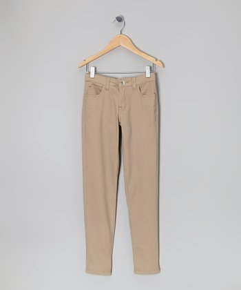 Khaki Super-Soft Skinny Pants - Girls