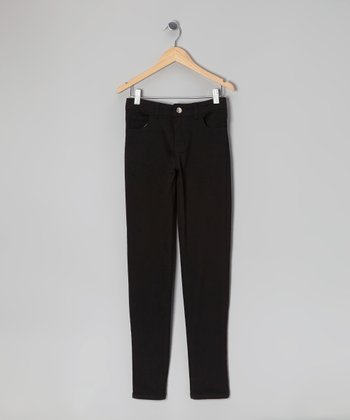 Black Super-Soft Skinny Pants - Girls