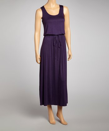 Violet Sleeveless Maxi Dress