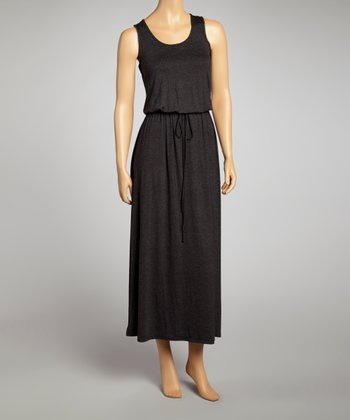 Dark Gray Sleeveless Maxi Dress