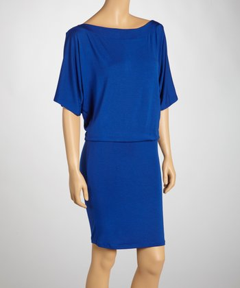 Royal Cape-Sleeve Dress