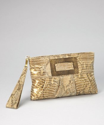Antique Gold Cleopatra Wristlet