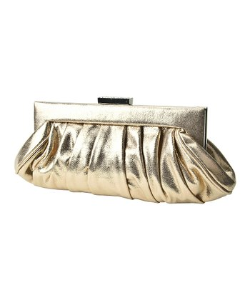 Gold Metallic Covered Frame Clutch