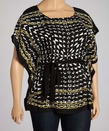 Black & Green Dolman Top - Plus