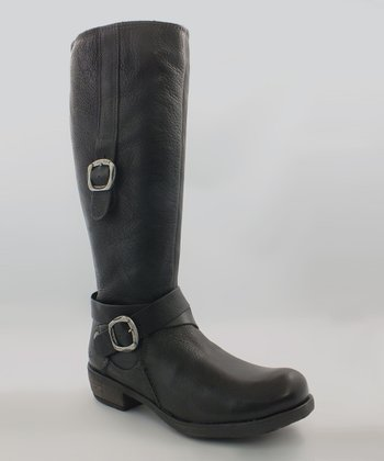 Black Batavia Leather Boot