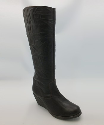 Dark Brown Step Boot