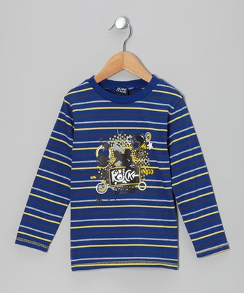 Bleu Stripe 'Rock Star' Tee - Toddler & Boys