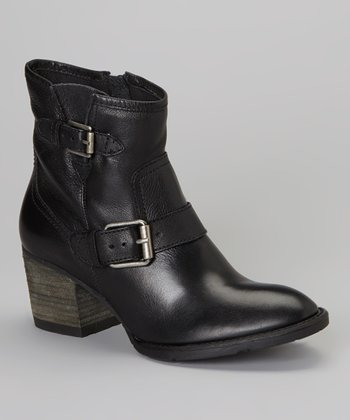 Black Double Down Bootie