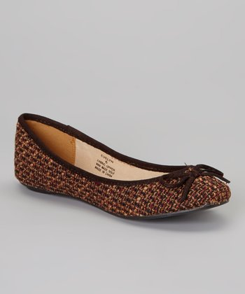 Brown Evelyn Flat