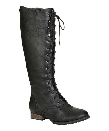 Black Outlaw-13 Lace-Up Boot