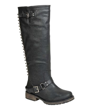 Black Trooper-14 Stud Boot