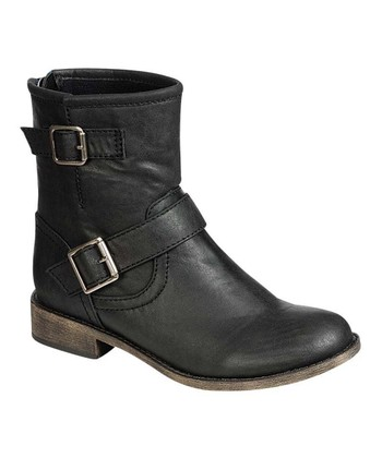 Black Fresno-11 Buckle Ankle Boot