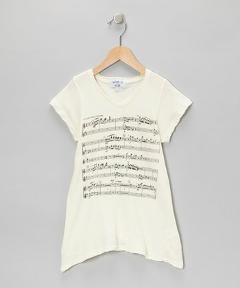 Ceramic White Juliet's Song V-Neck Tee