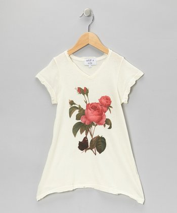 Ceramic White Clare V-Neck Tee