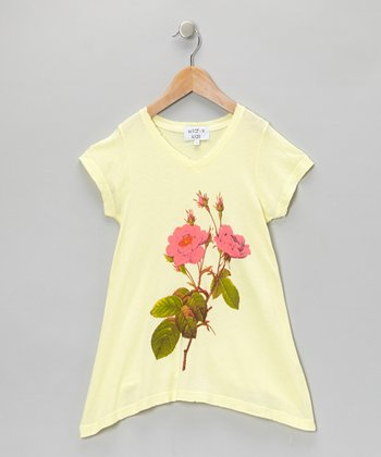 Butter Darling Rose V-Neck Tee