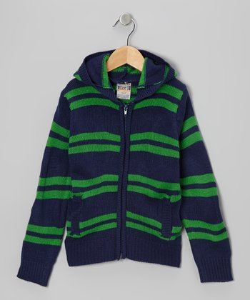 Navy Stripe Zip-Up Hoodie - Toddler & Boys