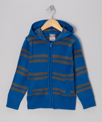 Royal Stripe Zip-Up Hoodie - Toddler & Boys