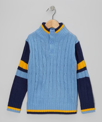 Navy Cable-Knit Pullover - Toddler & Boys