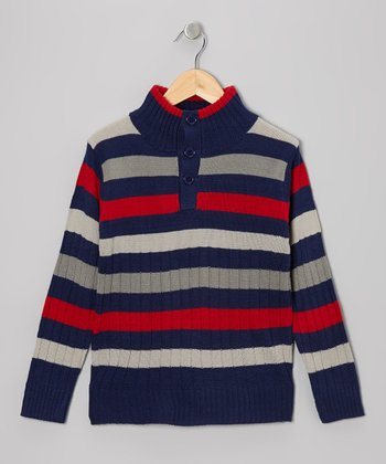 Navy Stripe Pullover - Toddler & Boys
