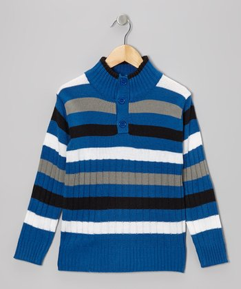 Royal Stripe Pullover - Toddler & Boys